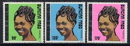 BURKINA FASO 1989 Definitive MNH / **.  Michel 1219-21 - Burkina Faso (1984-...)