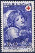 1700 JEUNE FILLE Au Petit CHIEN  OBLITERE ANNEE 1971 - France