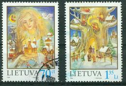 BM Litauen 1998 - MiNr 680-681 - Used - Weihnachten, Neujahr - Litauen