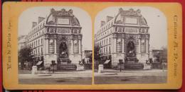 Stereofoto: Frankreich / France: Paris - Fontaine Saint Michel - Stereoscopio