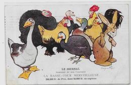 CPA Benjamin Rabier Lapin Publicité Publicitaire Dindon Dinde Coq Oie Canard Poule Circulé - Rabier, B.