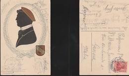 11752) SILHOUETTE SILUETTE UOMO CON CAPPELLO VIAGGIATA 1915 - Siluette