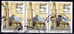 2013; Tower Cloks, Bande De 3 TP's , Oblitéré, Lot 47866 - Iraq