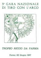 """[MD0997] CPM - IN RILIEVO - PARMA - 3° GARA NAZIONALE DI TIRO CON L'ARCO - TROFEO """"RICCIO DA PARMA"""" - NV 1987 - Parma"""