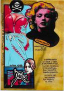 CPM LARDIE JIHEL Carte Salon Pirate AVON 1988 Nu Féminin érotisme éros Marilyn Monroe Cléo De Mérode - Bourses & Salons De Collections