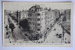 TUNIS Place Anatole France, Avenue De Paris Et Avenue Théodore Roustan - Túnez