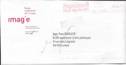 EMA - 1904 - ANGOULEME - ANGOULEME VILLE DE L'IMAGE ET DE LA BD (rouge) - 00045 Hd 102015 - Postmark Collection (Covers)