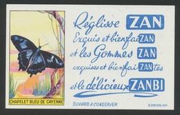 Buvard - ZAN - Papillon Chapelet Bleu De Catenne - Buvards, Protège-cahiers Illustrés
