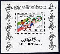 BURKINA FASO 1990 Football World Cup Block  MNH / ** - Burkina Faso (1984-...)