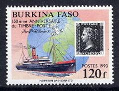 BURKINA FASO 1990 Penny Black Anniversary  MNH / ** - Burkina Faso (1984-...)
