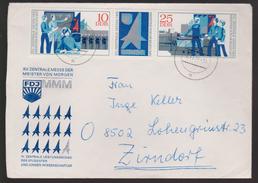 M 834) DDR 1972 Mi# 1799-1800+Zf O: Messe Meister Von Morgen, S=b/2 T² Weg-Zeit-Gesetz Physik Mechanik - Physique