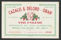 Buvard - VINS D'ORANIE - CAZALIS & DELORD - ORAN - V