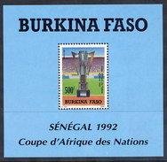 BURKINA FASO 1992 African Nations Football Cup Block  MNH / ** - Burkina Faso (1984-...)