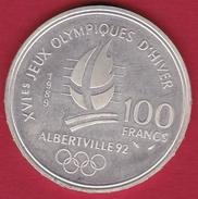 France 100 Francs Argent Albertville 1992 - N. 100 Francs