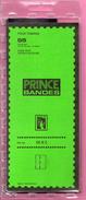 25 Bandes Double Soudure PRINCE Fond Noir 210x55mm - 50% - Postzegels