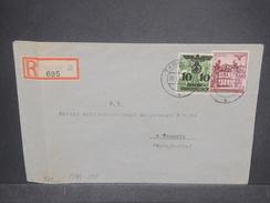 ALLEMAGNE / POLOGNE - Enveloppe En Recommandé De  Tarnow Pour La Suisse En 1944 Avec Censure , Affr. Plaisant - L 7280 - Storia Postale