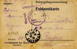 N°53412 -carte Posté Du Camp De Wesel -cachet Censure- - Postmark Collection (Covers)