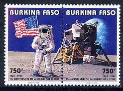 BURKINA FASO 1994 Moon Landing Anniversary  MNH / ** - Burkina Faso (1984-...)