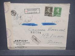 ROUMANIE - Enveloppe En Recommandé Exprès De Bucarest Pour La France En 1943 , Affranchissement Plaisant - L 7288 - 2. Weltkrieg (Briefe)