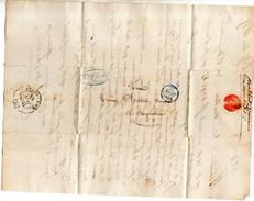 MARCOPHILIE 1835 CACHET PARIS ANGOULEME POUR LE BANQUIER CHATON - Marcophilie (Lettres)