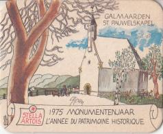 Stella Artois - 1975 Monumentenjaar - Galmaarden - St. Pauwelskapel - Ongebruikt Exemplaar - Bierviltjes