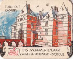Stella Artois - 1975 Monumentenjaar - Tunrhout - Kasteel - Ongebruikt Exemplaar - Bierviltjes