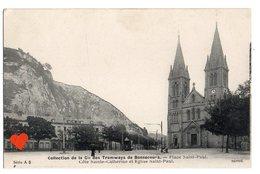 15449-LE-76-Collect De La Cie Des Tramways De Bonsecours-Place Saint-Paul-Côte Sainte-Catherine Et Eglise Saint-Paul - Bonsecours