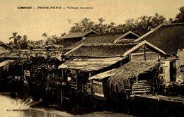 RPPC  CAMBODGE PHOM PENH VILLAGE LACUSTRE - Camboya