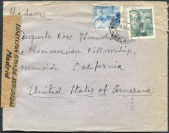 1940 Spain Malaga Cover - USA. Madrid Tape Censor, Franco Patriotic Slogan - 1931-Oggi: 2. Rep. - ... Juan Carlos I