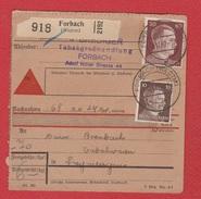 Colis Postal  --  Départ Forbach   --  04/12/942 - Bezetting 1938-45