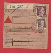 Colis Postal  --  Départ Forbach   --  04/11/942 - Bezetting 1938-45