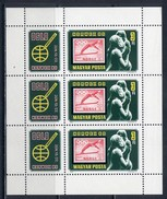 HUNGARY 1980 3429 PHILATELISTIC EXHIBITION «NORWEX-80». Stamps On Stamps. OLYMPIC GAMES OSLO - 52 - Winter 1952: Oslo