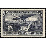 ES619STV-LTV***619STTAV.Spain.Esgane.AVION.UNION POSTAL PANAMERICANA Aereo. 1931 (Ed 619**) - Aviones