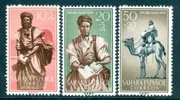 SPANISH SAHARA 1959 Colonial Stamp Day, Postman & Camel Set (3v), XF MNH, MiNr 200-2, SG 166-8 - Stamps