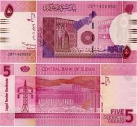 SUDAN       5 Sudanese Pounds      P-66a      9.7.2006      UNC - Soudan