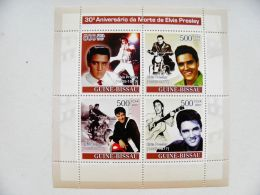 SALE! Guinea-Bissau M/s 2007 Pop Singer Elvis Presley Music Motorcycle Motorbike Guitare - Guinea-Bissau