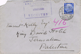 23911. Carta BERLIN (Nikolasse) Alemania Reich 1936. Received KING DAVID HOTEL Jerusalem - Brieven En Documenten