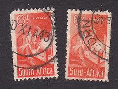 South Africa, Scott #96a, 96b, Used, Welder, Issued 1942 - Zuid-Afrika (...-1961)