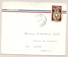 Gabon - 1968 - 30Fr Masque Okuyi Myene On Cover To France - Gabon (1960-...)