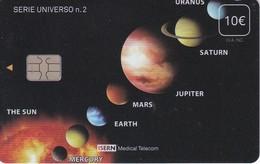 ISN-239 TARJETA DE ESPAÑA DE ISERN  DE LA SERIE UNIVERSO Nº2 (PLANETAS-PLANET) - Astronomy