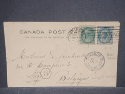 CANADA - Entier Postal + Complément De Montréal Pour La Belgique Via Le Danemark - L 7307 - 1860-1899 Regering Van Victoria