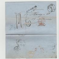 SAC027 / Limbach 1864 Mit Gebühr Korrektur Und Entsprechendem Stempel Nach Paris - Sachsen
