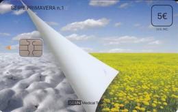 ISN-238 TARJETA DE ESPAÑA DE ISERN DE LA SERIE PRIMAVERA Nº1 (FLOR-FLOWER)