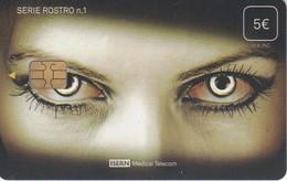ISN-241 TARJETA DE ESPAÑA DE ISERN DE LA SERIE ROSTRO Nº1 (OJOS MUJER-WOMAN)