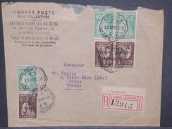 PORTUGAL - Enveloppe En Recommandé De Lisbonne Pour Paris En 1929 , Affranchissement Plaisant - L 7312 - 1910-... République