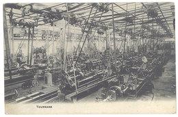 """Cpa Belgique, """" Tournage """", Le Progrès Industriel, Loth Près Bruxelles ( Adressée à Gand ) - Belgique"""