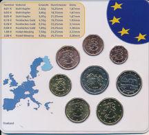 Finnland - Kompletter Euromünzen Satz - Alle 8 Euromünzen Im Blister - Finland