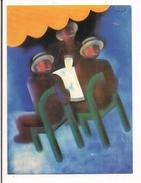 """- Charles Loupot - Maquette """"Buveurs De Pastis """" - Musée De L'Affiche 1978 -- - Publicité"""