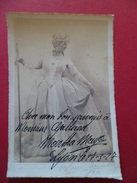 Autographe  De Martha Mayo Actrice (1882-1965) à Monsieur Gaillard Photo + Signée Du Photographe Blanc Demilly Lyon TB - Autographes