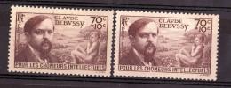 1939 - Fond Jaune / Fond Blanc - N° 437 - Neufs ** - Debussy